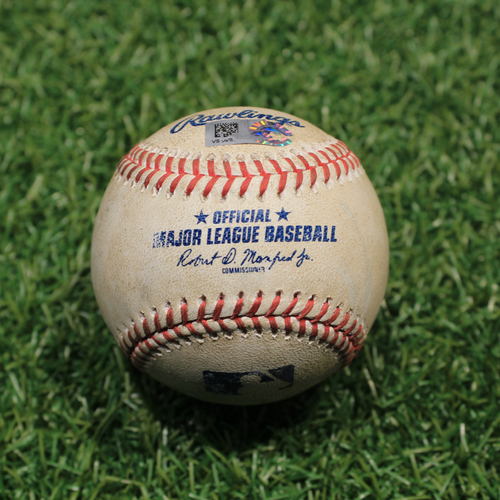 Photo of Game-Used Baseball: Niko Goodrum 63rd Career Double (9/25/20 DET @ KC)
