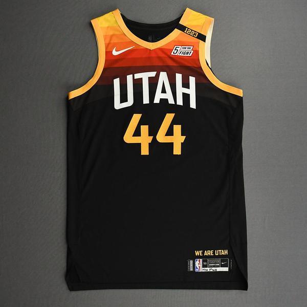Image of Bojan Bogdanovic - Utah Jazz - Game-Worn City Edition Jersey - 1st Half - 2020-21 NBA Season
