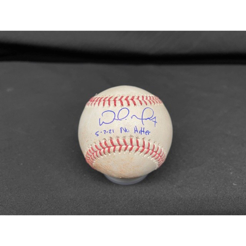 Photo of Wade Miley No-Hitter - *Autographed Game-Used Baseball* - Bot 3 - Wade Miley to Josh Naylor (Foul) - Inscribed as 5-7-21 No Hitter.