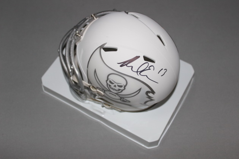 NFL - BUCCANEERS MIKE EVANS SIGNED BUCCANEERS ICE MINI HELMET