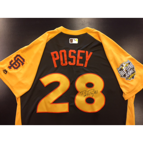 Giants Metallica Auction: Buster Posey Signed 2016 All-Star Game Jersey