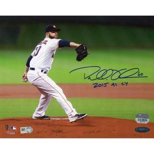 "Photo of Dallas Keuchel Houston Astros Autographed 8"" x 10"" Pitching Photograph with 2015 AL CY Inscription"