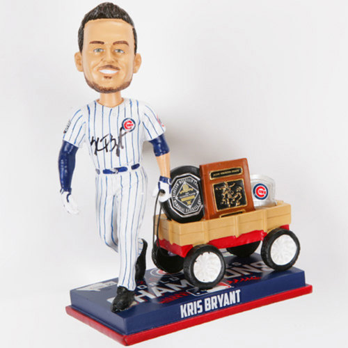 Photo of Chicago Cubs Kris Bryant Limited Edition Autographed Wagon Bobblehead