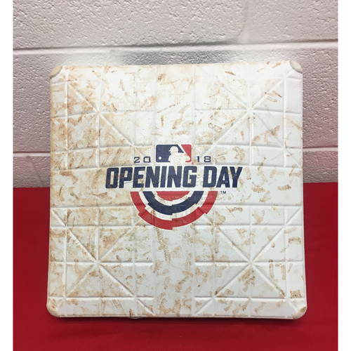 Photo of Game-Used 1st Base: 2018 Home Opener