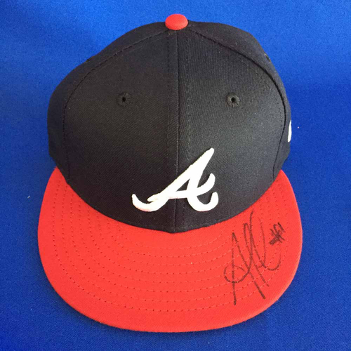 Photo of UMPS CARE AUCTION: Ozzie Albies Signed Cap - Size 6 7/8 - Not MLB Authenticated