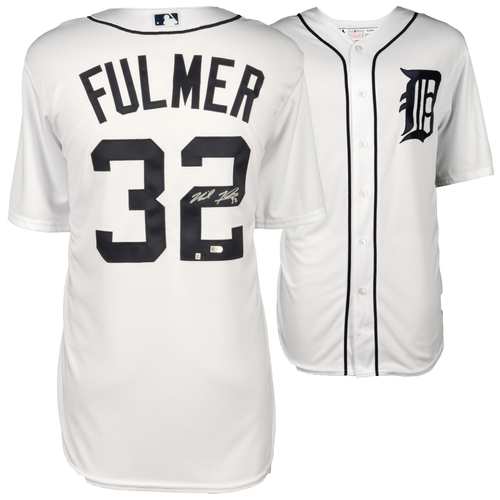 Photo of Michael Fulmer Detroit Tigers Autographed Majestic White Replica Jersey