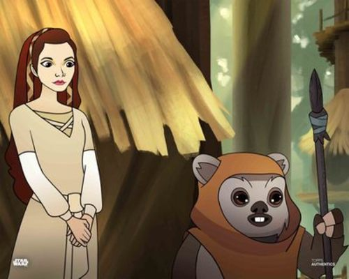 Princess Leia Organa and Ewoks