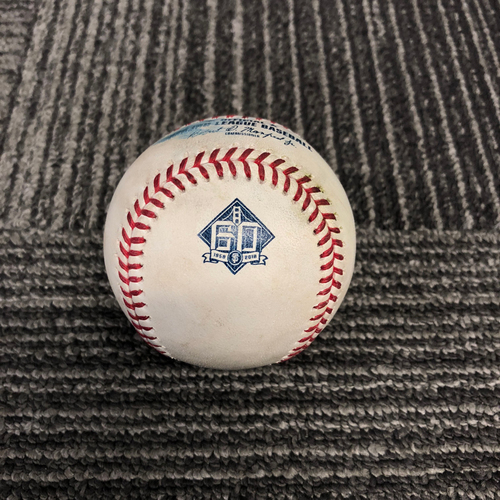 Photo of San Francisco Giants - 2018 Game Used Baseball - 9/29/18 vs. Los Angeles Dodgers - T-7: Derek Holland to Yasiel Puig - Single to LF. Prev. Cody Bellinger Pops Out to Catcher
