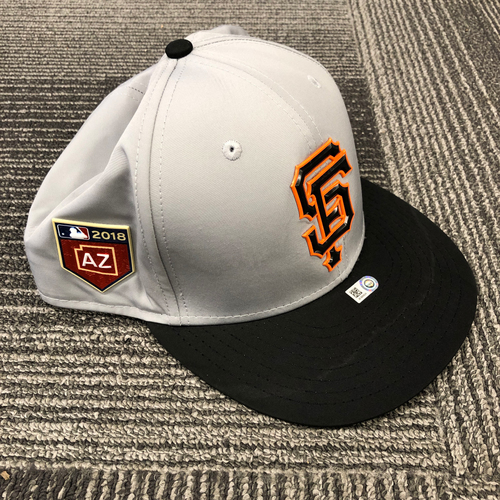 Photo of 2018 Spring Training Gray Batting Practice Cap - #60 Hunter Strickland - Size 7 1/4