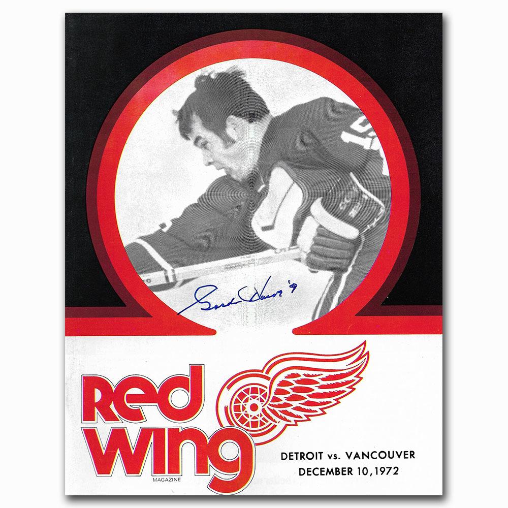 Gordie Howe Autographed Detroit Red Wings 1972 Game Program