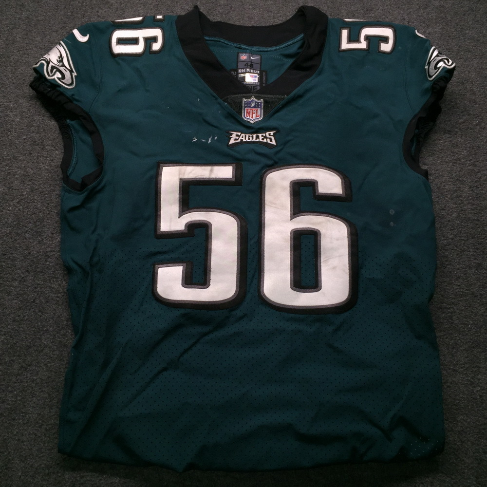 Crucial Catch - Eagles Chris Long Game Used Jersey  (October 11th, 2018) Size 44