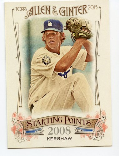 Photo of 2015 Topps Allen and Ginter Starting Points #SP39 Clayton Kershaw