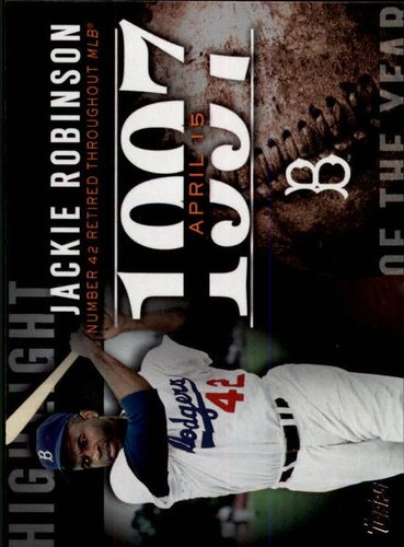 Photo of 2015 Topps Highlight of the Year #H83 Jackie Robinson UPD