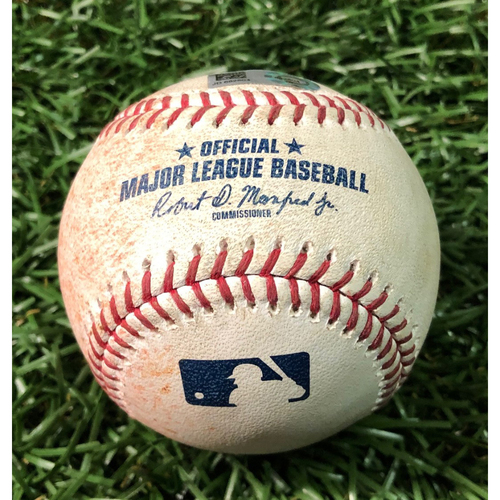 Photo of Game Used Baseball: Travis d'Arnaud doube off Zac Rosscup - May 27, 2019 v TOR