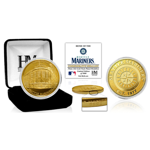 "Photo of Seattle Mariners ""Stadium"" Gold Mint Coin"