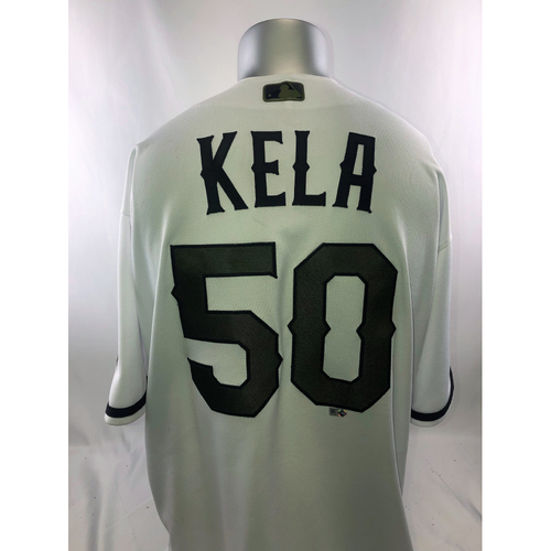 Photo of Game-Used White Jersey - 5/27/18