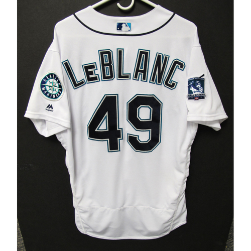 Photo of Seattle Mariners 2019 Wade LeBlanc Game-Used Jersey - Edgar Martinez Hall of Fame Celebration Weekend - August 9-11