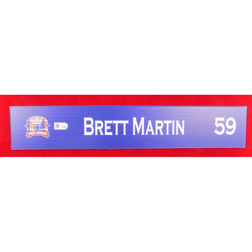 Photo of Final Season Game-Used Locker Tag - Brett Martin - 9/13/19 vs OAK