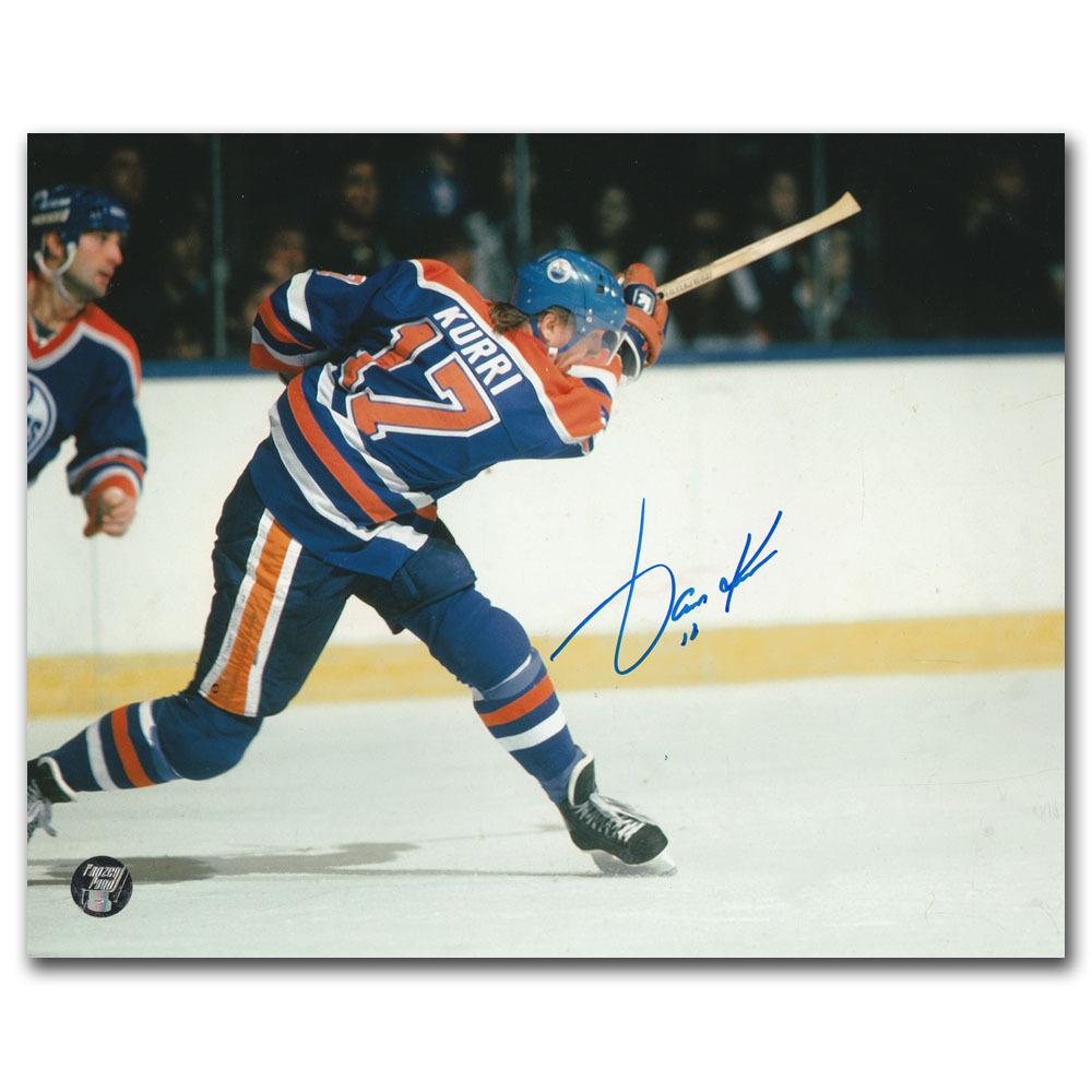 Jari Kurri Autographed Edmonton Oilers 8X10 Photo