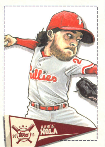 Photo of 2019 Topps Big League Star Caricature Reproductions #SCRAN Aaron Nola