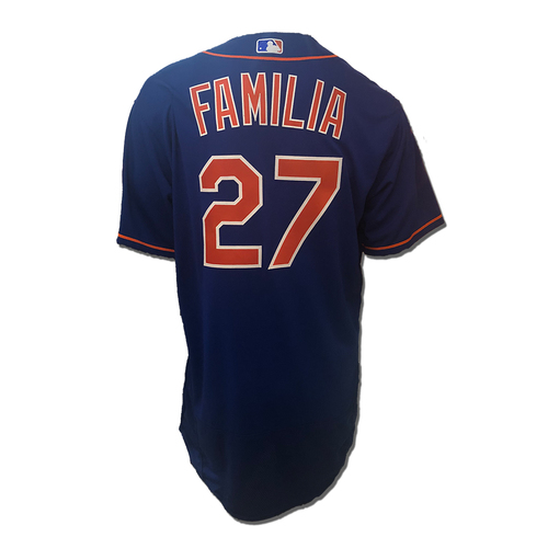 Photo of Jeurys Familia #27 - Team Issued Blue Alt. Home Jersey - 2018 Season
