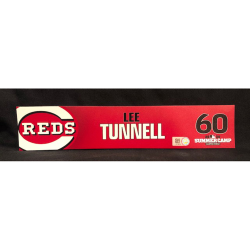 Photo of Lee Tunnell -- 2020 Sumer Camp Locker Tag -- Team-Issued