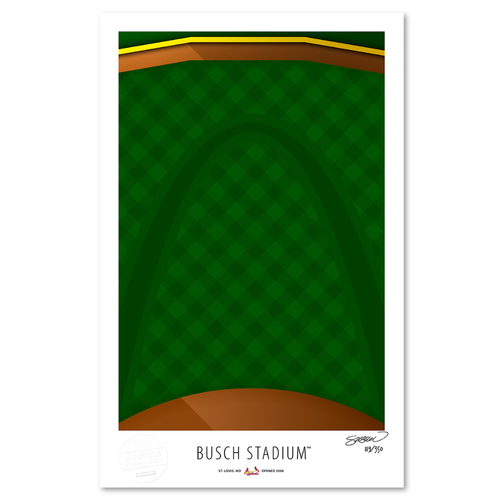 Photo of Busch Stadium- Collector's Edition Minimalist Art Print by S. Preston Limited Edition /350  - St. Louis Cardinals