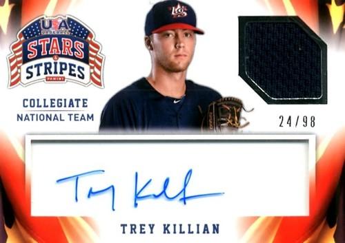Photo of 2015 USA Baseball Stars and Stripes Jersey Signatures #95 Trey Killian/98