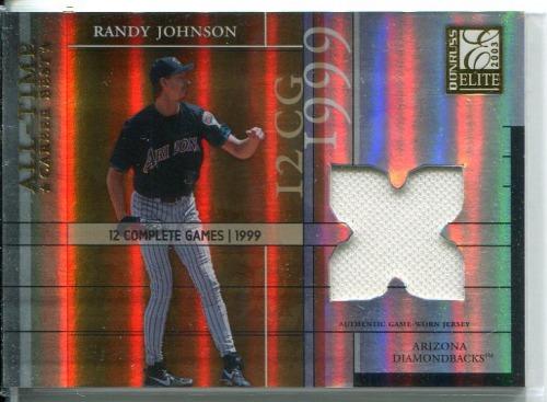 Photo of 2003 Donruss Elite All-Time Career Best Materials #31 Randy Johnson Jsy/400
