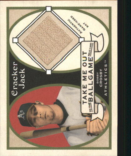 Photo of 2005 Topps Cracker Jack Take Me Out to the Ballgame Mini Relics #BCR Bobby Crosby Bat