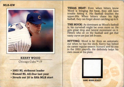 Photo of 2004 Fleer Platinum MLB Scouting Report Game Jersey #KW Kerry Wood