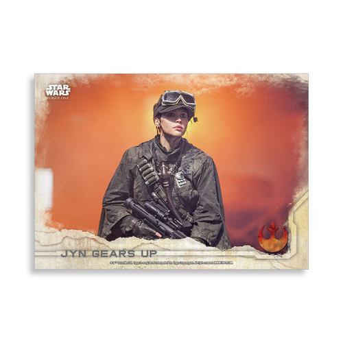 Jyn gears up 2016 Star Wars Rogue One Series One Base Poster - # to 99