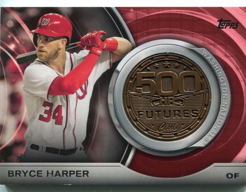 Photo of 2016 Topps Update 500 HR Futures Club Medallions  Bryce Harper