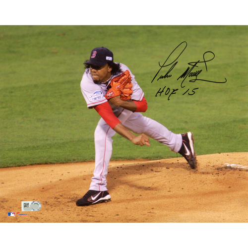 "Photo of Pedro Martinez Boston Red Sox Autographed 8"" x 10"" Photo with HOF 15 Inscription"