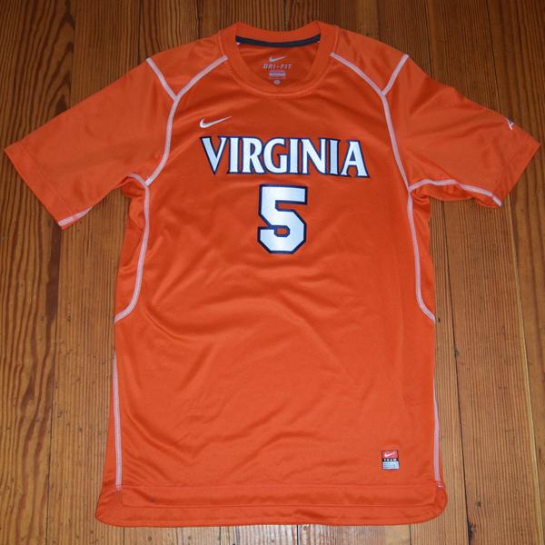 Photo of Game-Worn University of Virginia Women's Soccer Jersey: Orange #5