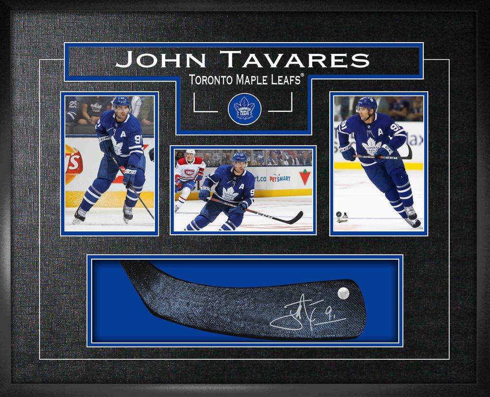 John Tavares Signed Stickblade Framed Toronto Maple Leafs