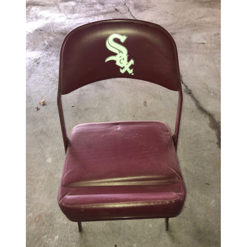 Photo of Red Folding Chair with Sox Logo  - PICK UP ONLY