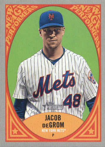 Photo of 2019 Topps Heritage New Age Performers #NAP19 Jacob deGrom