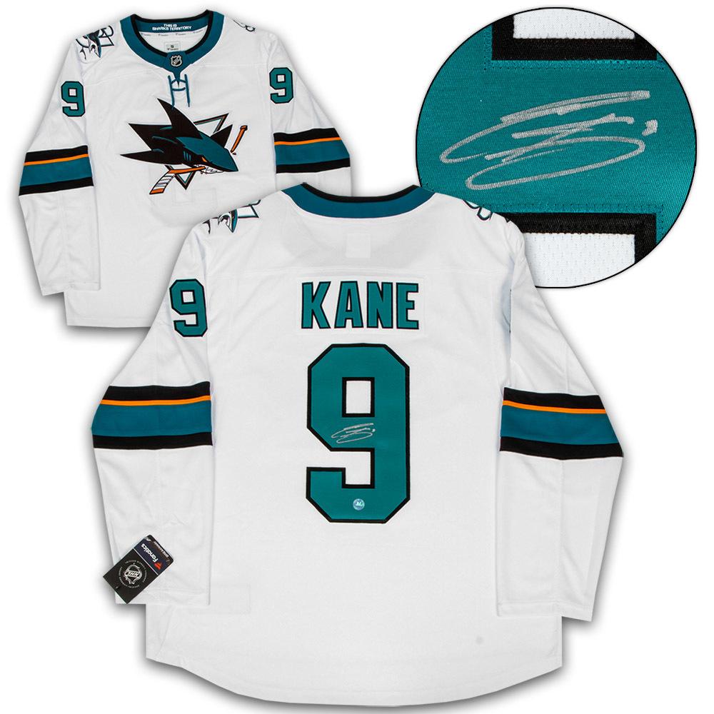 Evander Kane San Jose Sharks Autographed White Fanatics Hockey Jersey