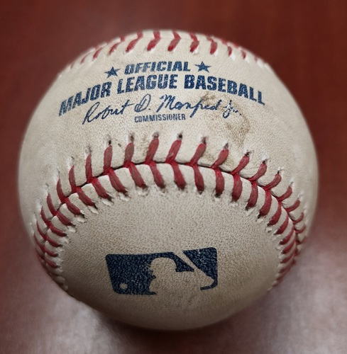 Photo of Authenticated Player Collected Baseball - March 31, 2019 vs Tigers: Rowdy Tellez Home Run (1) against Joe Jimenez (B8)