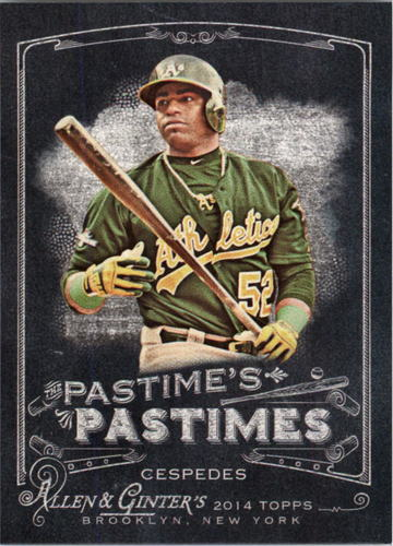 Photo of 2014 Topps Allen and Ginter The Pastime's Pastime #PPYC Yoenis Cespedes