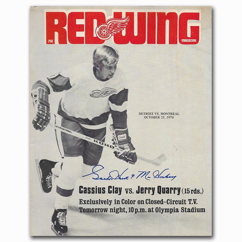 Gordie Howe Autographed Detroit Red Wings 1970 Game Program