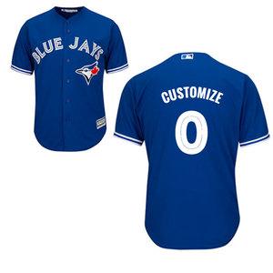 Toronto Blue Jays Men's Customizable Replica Alternate Jersey by Majestic