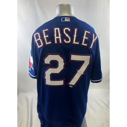 Photo of Game-Used Blue Jersey - Tony Beasley - 9/8/18