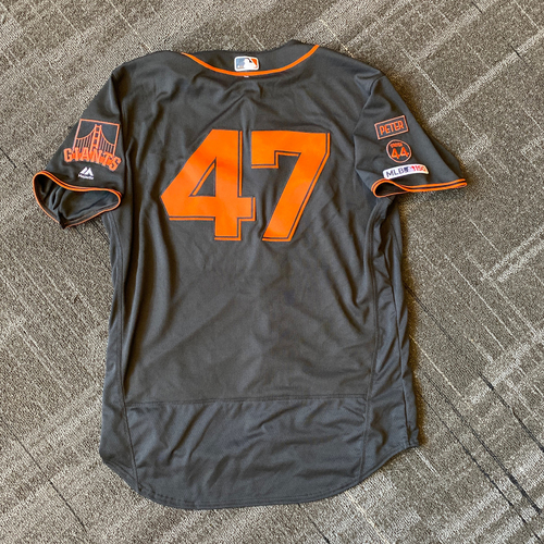 Photo of 2019 Team Issued Gigantes Black Home Alternate Jersey - #47 Johnny Cueto - Size 48