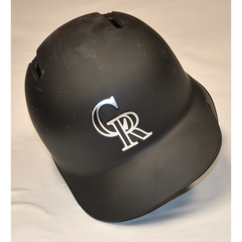 Photo of Bryan Shaw Colorado Rockies Team Issued 2019 Players' Weekend Helmet - Size 7 1/4