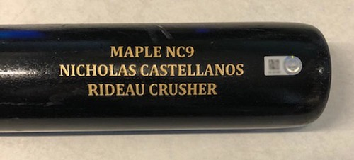 Photo of 12 Days of Auctions: Day 6 -- Nick Castellanos Team-Issued Cracked Bat -- 2019 Season