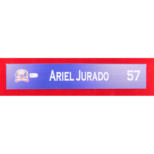 Final Season Game-Used Locker Tag - Ariel Jurado - 9/13/19 vs OAK