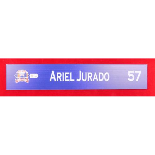 Photo of Final Season Game-Used Locker Tag - Ariel Jurado - 9/13/19 vs OAK