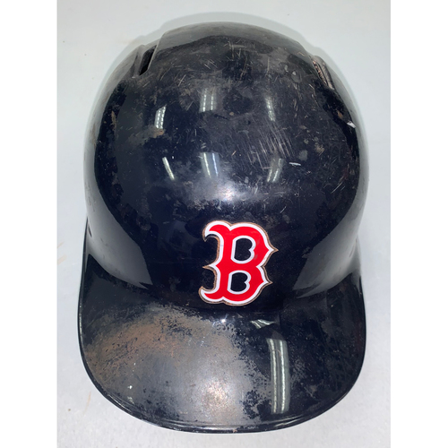 Photo of Xander Bogaerts October 9, 2017 Game Used Batting Helmet